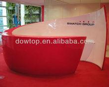 Apple shaped reception desk