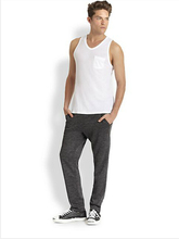 Best-Selling Promotional Cotton white mens jersey tank tops with one pocket