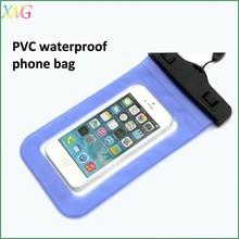 Promotion gift Bulk Cheap Custom PVC mobile phone waterproof bag for Iphone