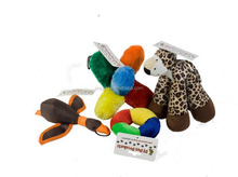 Happy Pet Migrator Plush Mallard,Pet Products Value Pack of 4 Soft Dog Toys