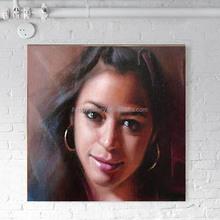 Custom original portrait oil painting,museum quality hand painted oil portrait on canvas,pencil drawing portrait
