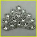 Princess' coroa com cristal de diamante Applique para sash, Véu do casamento, Roupas