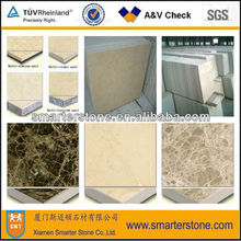 Ceramic/honeycomb composite stone tile