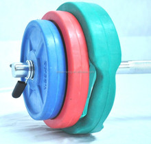Adjustable Long curl bar rubber coated dumbbell/barbell for club use