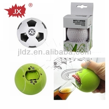 Music bottle opener with basketball,golfball,football tennis ball shape