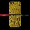 Snake Pattern Genuine Cow Leather Mobile/Cell Phone Back Cover Case for Apple iPhone 5/5s leather Coated Case
