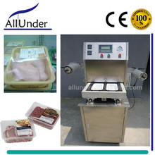 Semi automatic vacuum nitrogen gas flushing tray sealing machine, MAP tray sealer