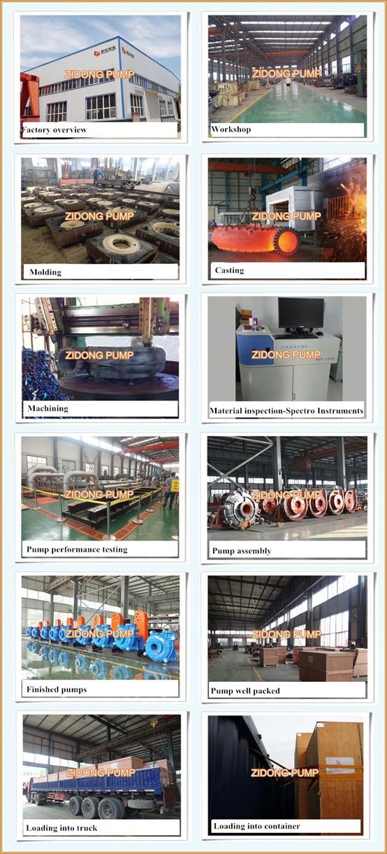 A05 materials high chrome slurry pump