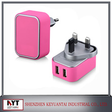 Best Selling portable dual usb travel adapters, usb adapter, travel adapter with CE FCC KC ROHS