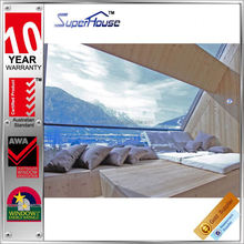 fashion design impact resistant toughened glass fixed glass window