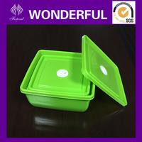 Multi-size square colored cheap plastic container