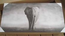 Home decoration china supplier the lonely elephant canvas art printing