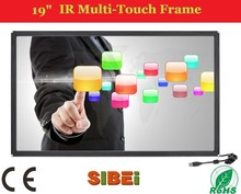 19'' infrared touch screen 19 inch real multi ir touch frame,ir touch screen overlays for LCD or TV
