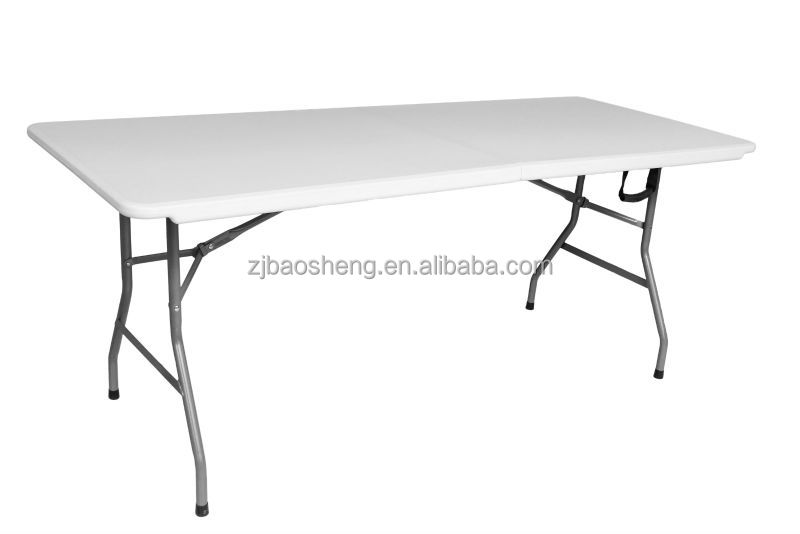 2015 new design 6ft plastic blow molded Table, rectangle banquet camping table