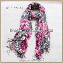 HD316 -022 scarf printing Tongshi supplier viscose scarf wide shawls indian scarf
