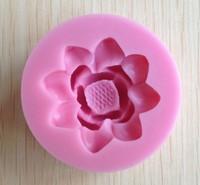 Creative Lotus shape Chocolate Candy Jello 3D silicone Mold Cartoon Figre/cake tools Soap Mold Sugar craft Cake Decoration