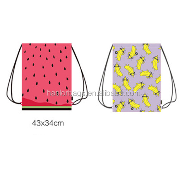 Wholesale custom printed cheap drawstring shoes bag