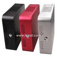 Thin mini itx Mini PC Case A02-H56 in STOCK Aluminum Alloy,horizontal,for embedded computer/braeborn system/HTPC/mini desktop