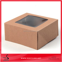 Sinicline custom square frozen food box packaging with pvc window