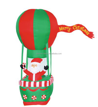 210cm/7ft High polyester Christmas Inflatable Fire Balloon with standing santa claus