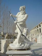Figure Statue Statue Type and Western Style marble Poseidon
