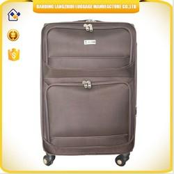 Asia hot selling fabric travel luggage set eminent universal wheels travel luggage