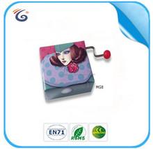 Hand crank music movement mini gift box