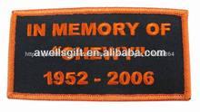 en la memoria de los parches personalizados etiquetas personalizadas nombre del motorista divisa de la motocicleta