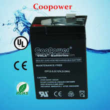 12 volt agm battery/ Deep cycle battery 12v2.2ah,security system battery