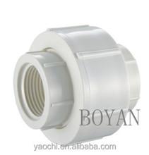 pvc BS thread cpvc upvc ASTM america size female male rotary union