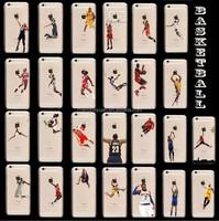 Basketball Player Jordan plastic hard clear printed phone case for iphone 6