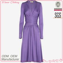 high fashion elegant lady's body-fitting purple prom dress