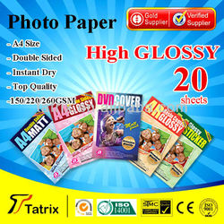 A4 Glossy Paper , A4 High Glossy Photo Paper for all Inkjet Printer.
