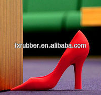 hot selling soft silicone fashion design high heel shoes door stopper