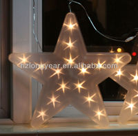 LED PVC christmas Five-pointed star light battery operated