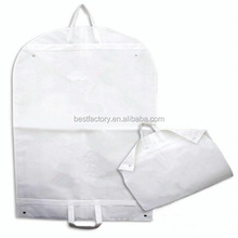 suit bag custom made, garment bag with button, non-woven suit cover bag