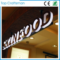 Customized Stainless steel led backlit signs Outdoors Illuminated Channel Letters for shop front