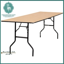 Long dining room folding table solid wood