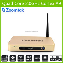 zoomtak T8 plus amlogic s812 dual wifi bluetooth 4.0 android 4.4 google tv box yahoo mail
