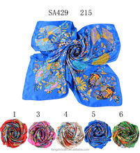 SA429 215 100% silk satin fabric brand scarf 2015 100% silk hijab shawl and scarvessupplier alibaba china