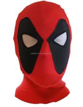 Lycra spandex zentai wrestling super hero deadpool hood mask QMAK-2103