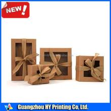 Guangzhou factory natural brown kraft chocolate fudge candy box