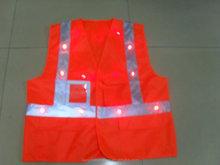 2015 fashion high visibility 16 LED reflective safety vest EN20471