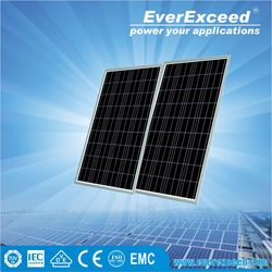 EverExceed High Quality 225w Polycrystalline Solar Panel made of Grade A solar cell with tempered glass certificated by TUV/VDE