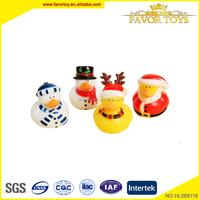 New christmas vinyl animal toy, soft rubber duck for kids.