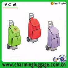 Unisex extra compartments popular large capacity shopping trolley bag