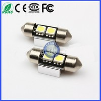 Free Error 31MM 2 SMD 5050 Canbus Light Dome bulb AUTO license plate lights reading Lamp Car Interior ROOF Lamp Rear