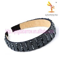 Fashion design handmade headband with rhinestone for lady