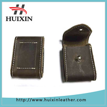 2015 news crazy horse leather lighter holder high quality leather holders