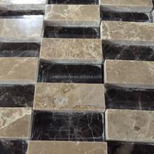 Dark & light emperador wall 3D design tile mosaic